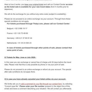 【中止】オランダ&パリ一人旅 キャンセル編④タリスからメールが届くが…