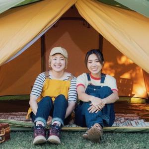 女子もキャンプ大好きです