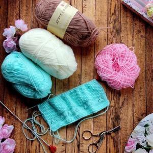 そろそろ編み物の季節 ベビちゃんにも☆