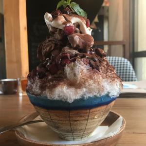 雫カフェのカキ氷パフェ!