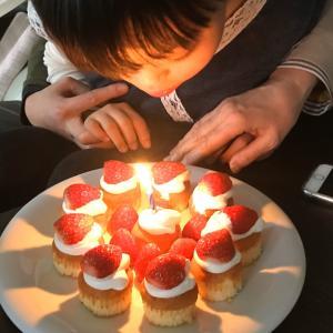 夫の誕生日祝い。