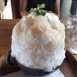 雫カフェさんのカキ氷「梅子」