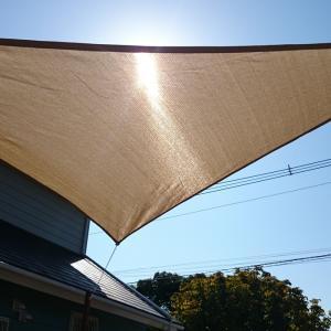 【エクステリア】真夏の日差し対策!庭のサンシェード取り付けDIYを紹介!