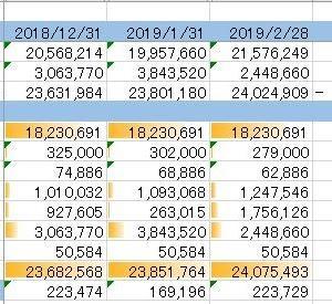 【資産状況】2019年1~2月/株が20万くらい回復