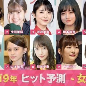 2019ヒット予測の女優・俳優トップ10発表!