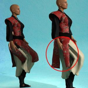 RSSY Cross Gender Clothes Genesis 8 裾・スカートをリアル化