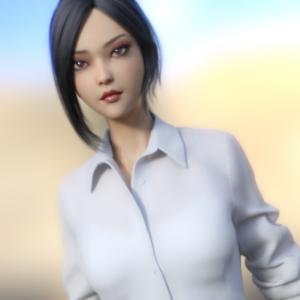 H&C dForce Office Outfit for Genesis 8 Female(s) 清楚系OL制服