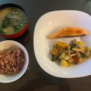 月曜の夕食と火曜の体重