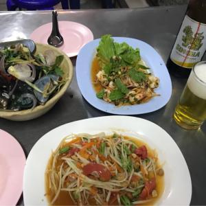 タイ、バンコク出張での夕食