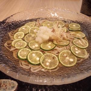 スダチ蕎麦とタコス