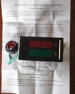 電圧電流計を取付けた