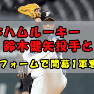 日本ハムルーキー・鈴木健矢投手とは?変則フォームで開幕1軍奪取!