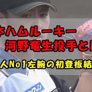 日本ハムルーキー・河野竜生投手とは?社会人No1左腕の初登板は?