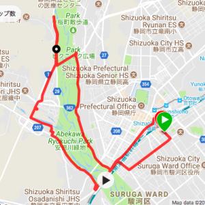 静岡市 安倍川沿いを走る18km