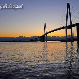 新港の朝陽風景 2019残