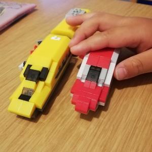 初めてのナノブロックに挑戦!ダイソーのナノブロックで新幹線を作ろう!