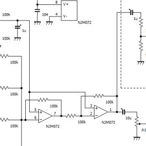 壊れた楽器用ミキサー(BOSS KM04)をステレオに改造