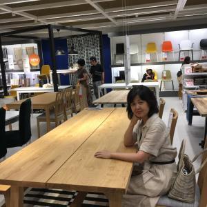 やたらでかいテーブルを主役に!@ダイニング (2)ちえさんキッチン大改造ストーリー