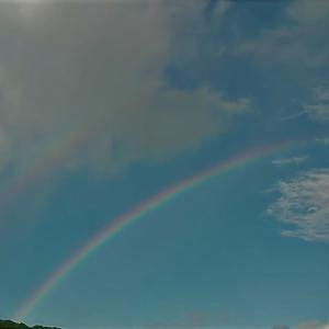 ダブルの虹が出たよ
