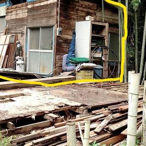 天使様に竹藪掘っ立てハウスの全撤去をお願いしました