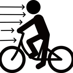 向かい風でのテクニック(自転車走行での軽減方法)