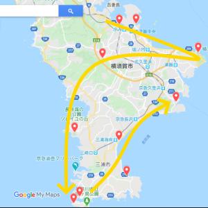 南房総・三浦半島サイクルスタンプラリーに向けてのコース設定