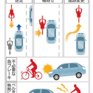 自転車のあおり運転規定が分かりにくすぎ