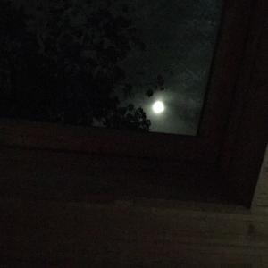 天窓から見えるお月様