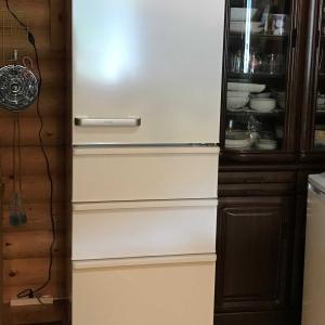 冷蔵庫届きました