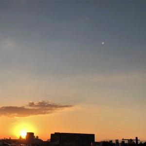 朝日と夕日