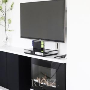 TV配線の仮隠し