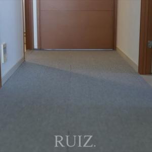 廊下にニトリのタイルカーペットを敷きました!