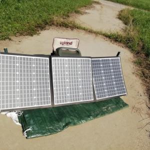 ソーラーパネルの充電実験