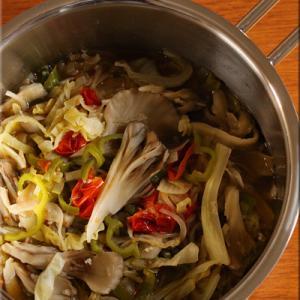 舞茸入り野菜の蒸し煮