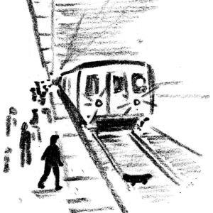 ニューヨークの地下鉄での危なかった数秒間。メトロポリタンダイアリーより。
