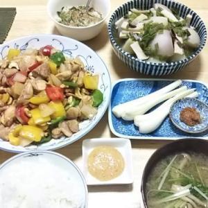 5月28日の献立(鶏とカシューナッツのオイスター炒め)