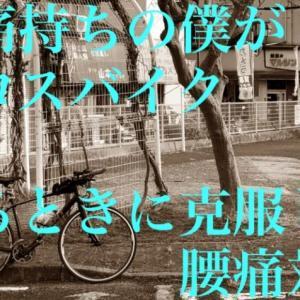 クロスバイクに乗ると腰痛、背中痛に?!実際に乗るときにやった腰痛対策と原因