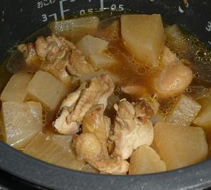 炊飯器で鶏大根
