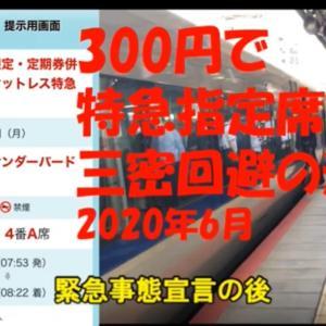 指定席特急券300円のキャンペーン