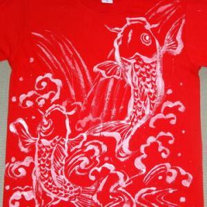 広島カープの手描きシャツ