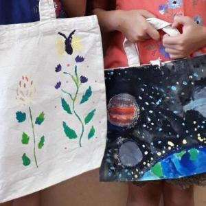 姉妹の花・宇宙バッグ