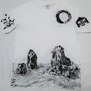 お坊様の禅なTシャツ お坊様の禅宗Tシャツ 石庭と座禅の心落ち着く世界