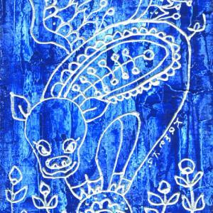 幸せの青い豚