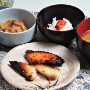 11月2日の母の夕食 魚2種の西京漬けなど