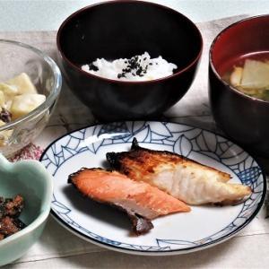 11月6日の母の夕食 魚2種の粕漬けなど