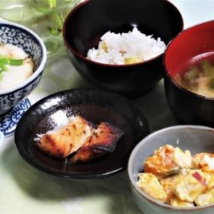 11月11日の母の夕食 金目鯛の西京漬けなど