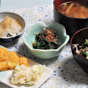 4月7日の母の夕食 炊き込みご飯など