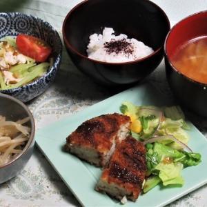7月16日の母の夕食 ポテトコロッケなど