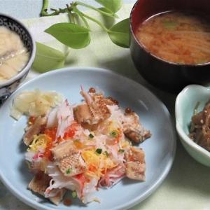 12月1日の母の夕食 穴子ちらし寿司など