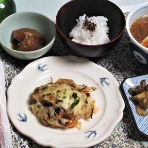 1月23日の母の夕食 ポテトコンビーフ・グラタンなど